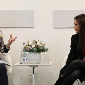 Victoria Beckham visits Condé Nast College