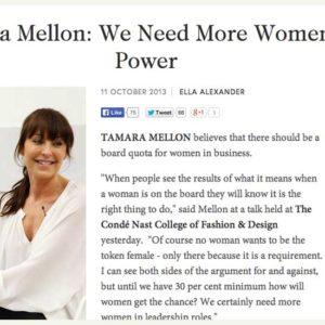 Tamara Mellon interviewed by Principal Susie Forbes