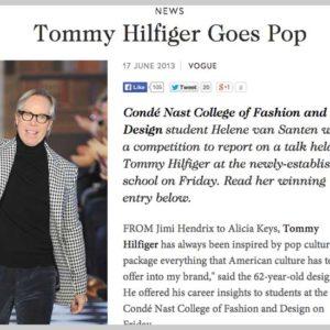 Tommy Hilfiger visits the Condé Nast College