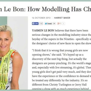 Yasmin Le Bon Speaks to Students at the Condé Nast College