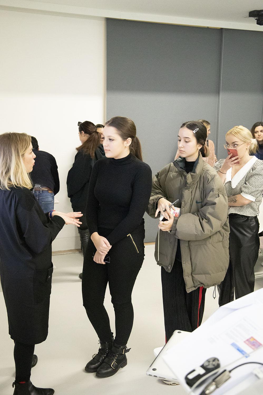 Jen Shepherd Unicef visits Conde Nast College London