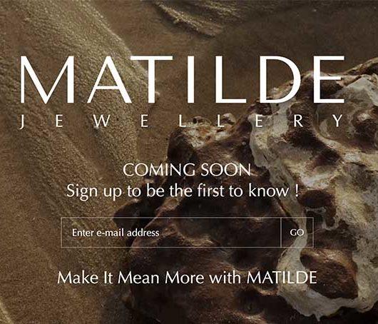 MATILDE Website Landing Page