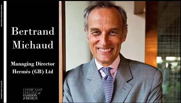 Bertrand Michaud Hermes industry talk at Condé Nast College