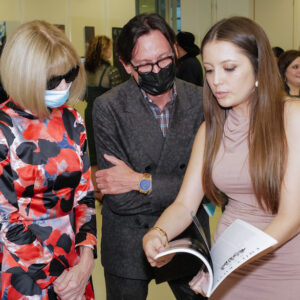 Graduate exhibition with Anna Wintour and Hamish Bowles